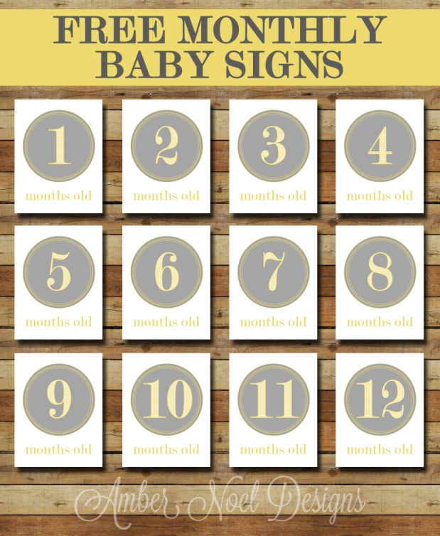 Gutsy image within printable baby month signs